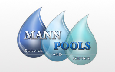 Mann Pools Logo Design