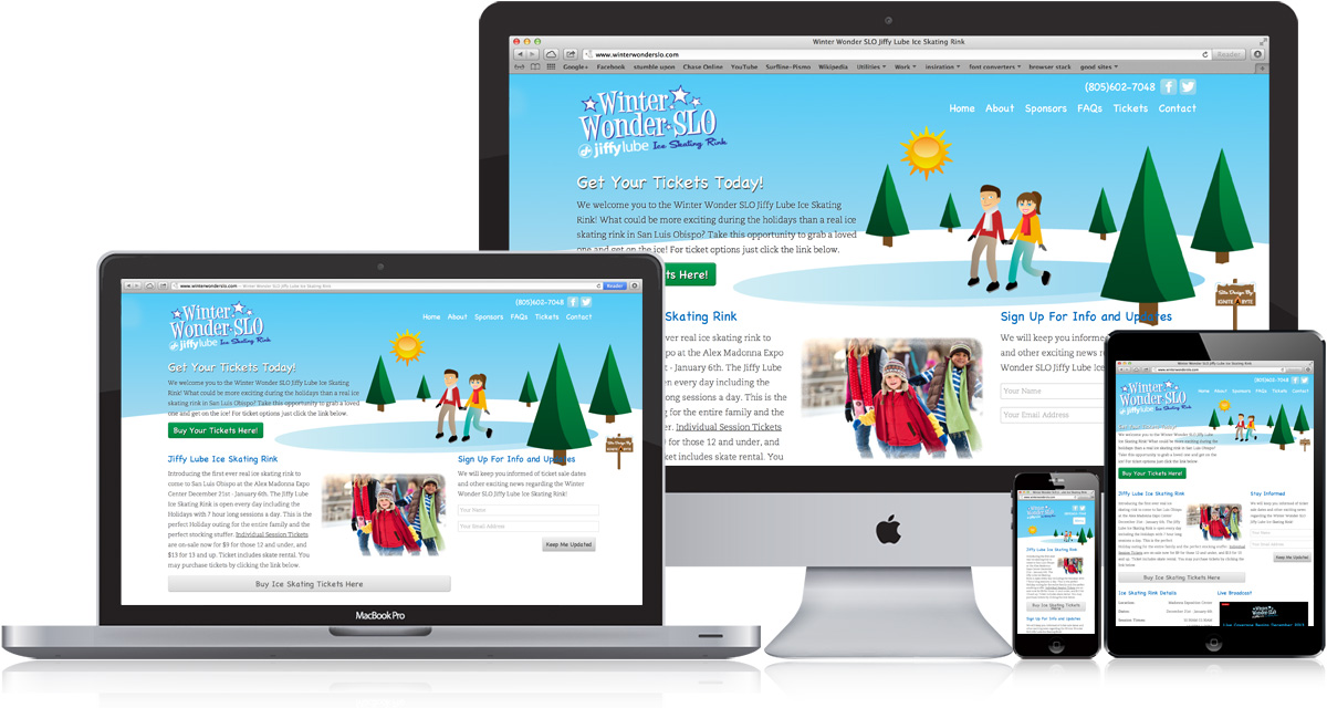 Winter Wonder SLO Responsive Website Design